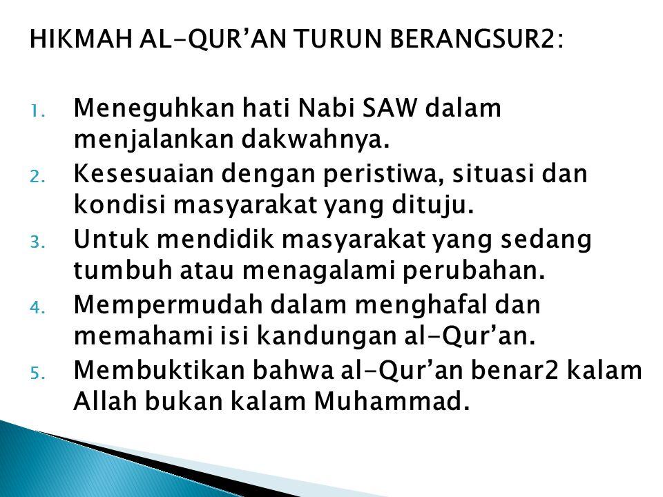HIKMAH AL-QUR'AN TURUN BERANGSUR2: