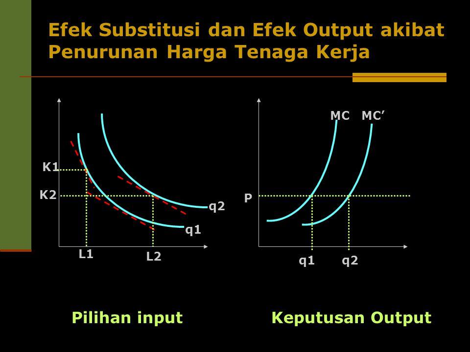 Efek Substitusi dan Efek Output akibat Penurunan Harga Tenaga Kerja