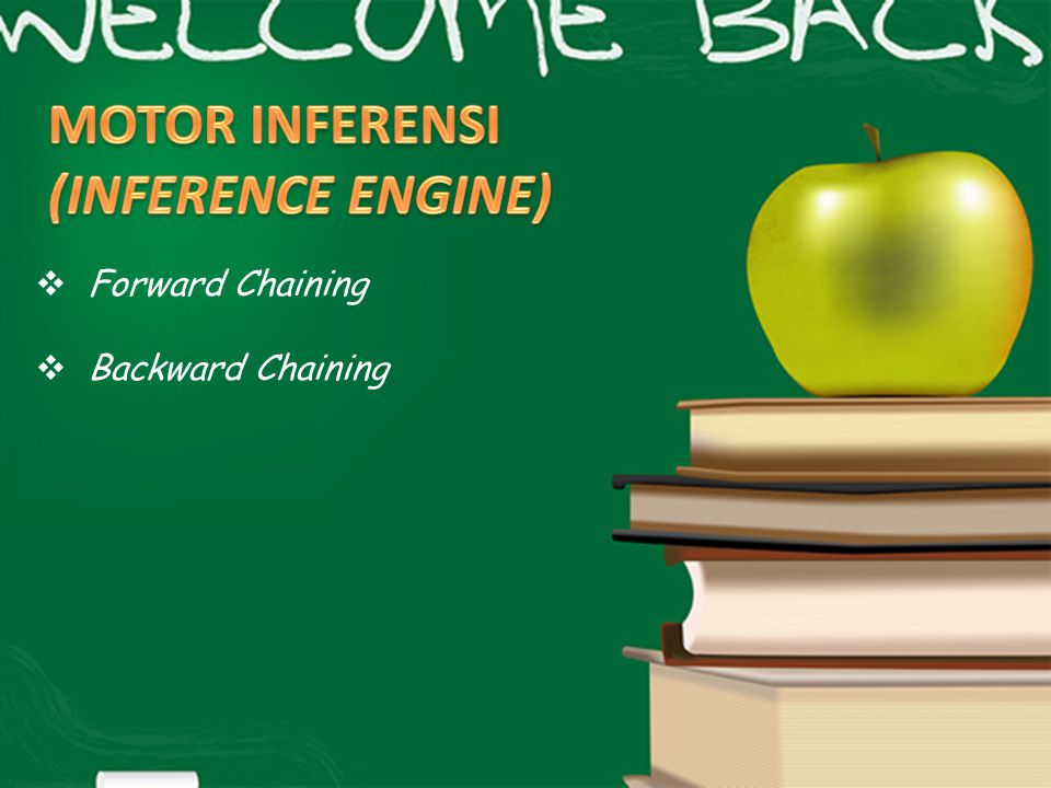 MOTOR INFERENSI (INFERENCE ENGINE) Forward Chaining Backward Chaining