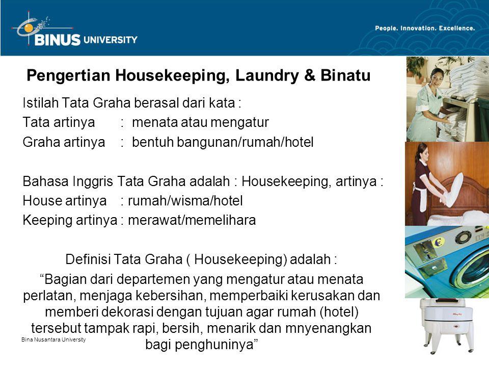 Pengertian Housekeeping, Laundry & Binatu