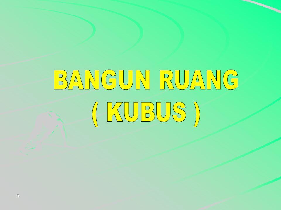 BANGUN RUANG ( KUBUS ) 2