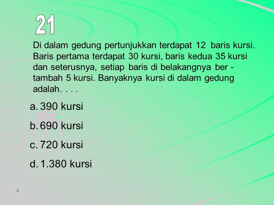 21 390 kursi 690 kursi 720 kursi 1.380 kursi