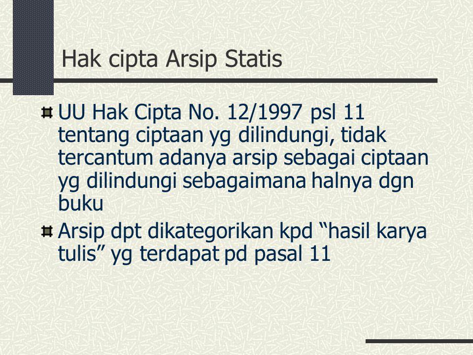 Hak cipta Arsip Statis