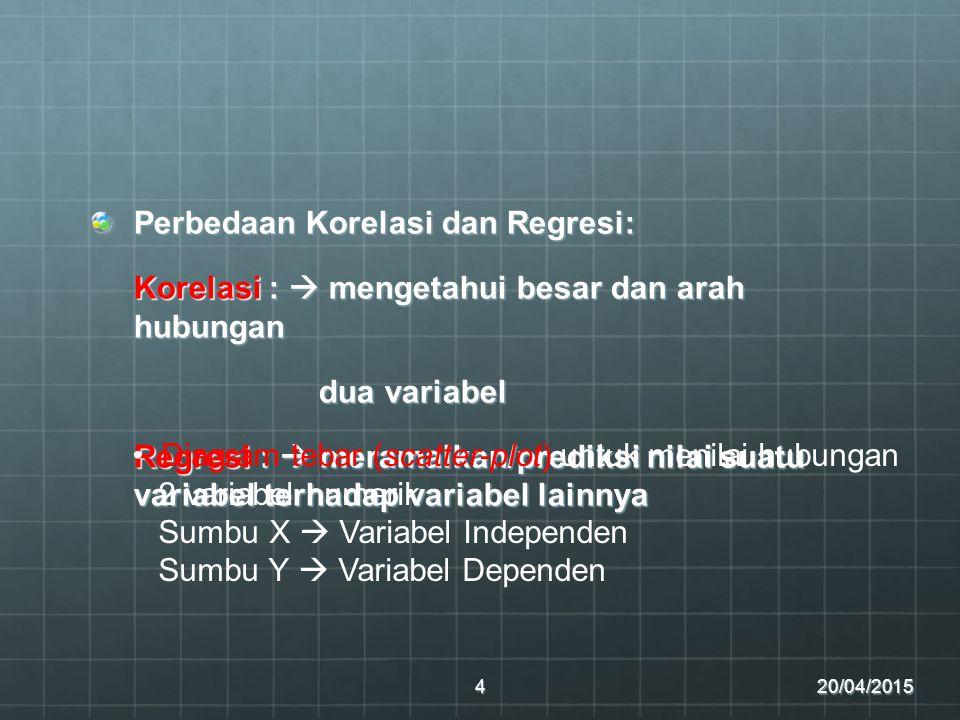 Perbedaan Korelasi dan Regresi: