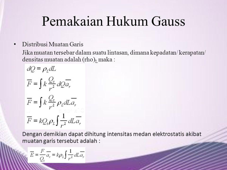 Pemakaian Hukum Gauss Distribusi Muatan Garis