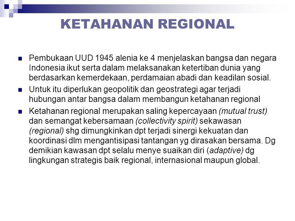KETAHANAN REGIONAL