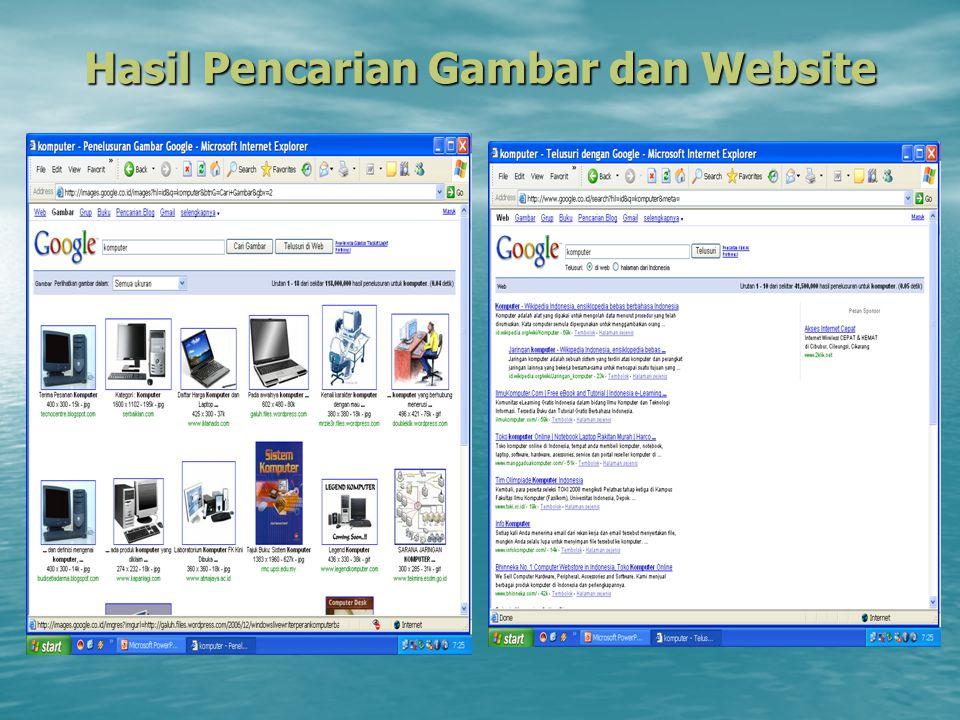 Hasil Pencarian Gambar dan Website