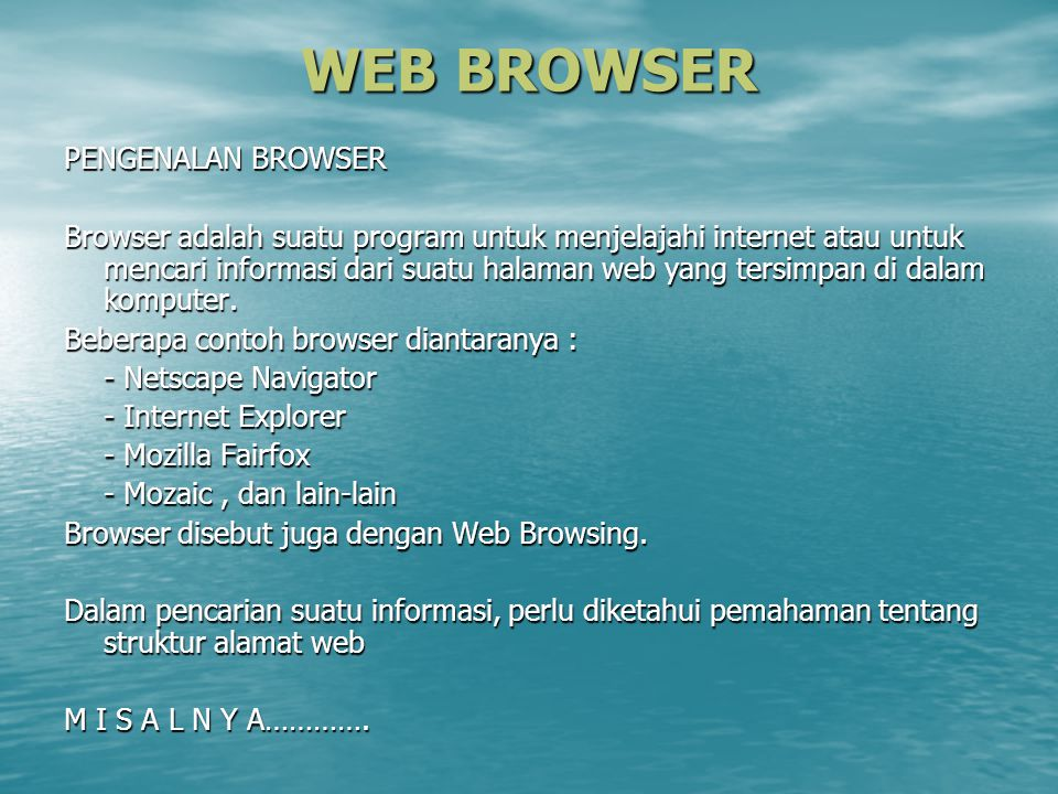 WEB BROWSER PENGENALAN BROWSER