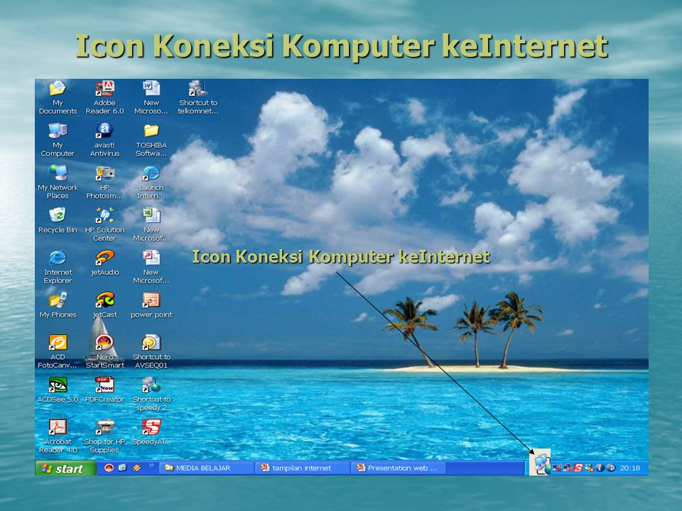 Icon Koneksi Komputer keInternet