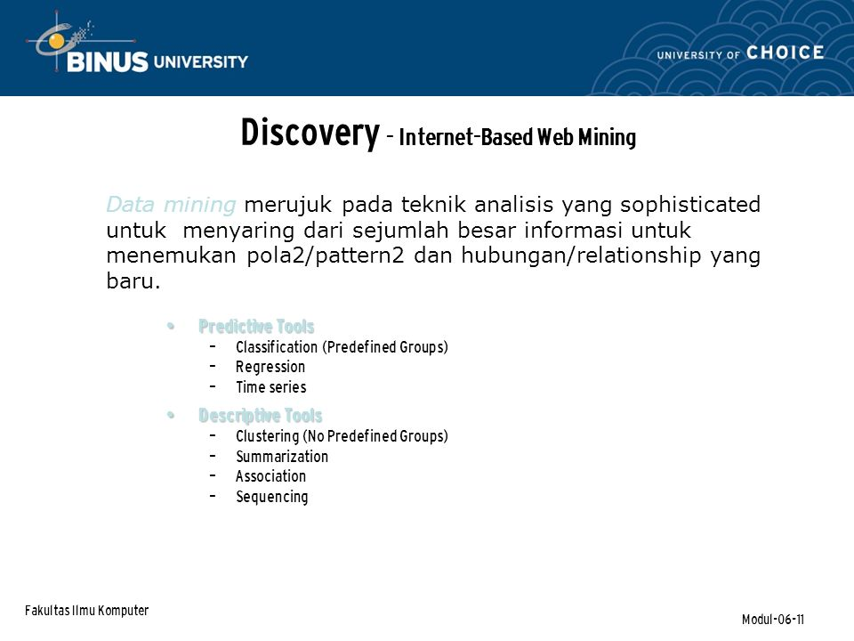 Discovery - Internet-Based Web Mining