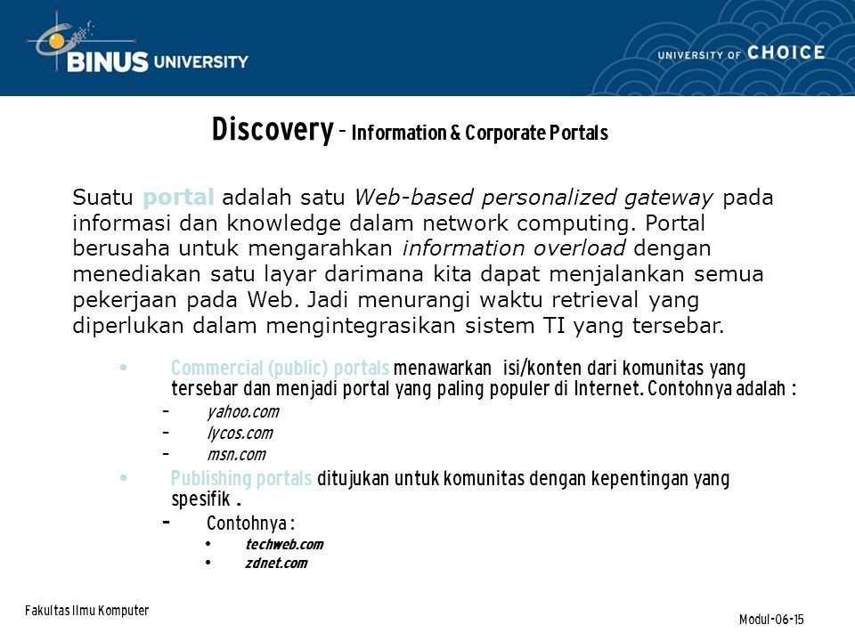 Discovery - Information & Corporate Portals