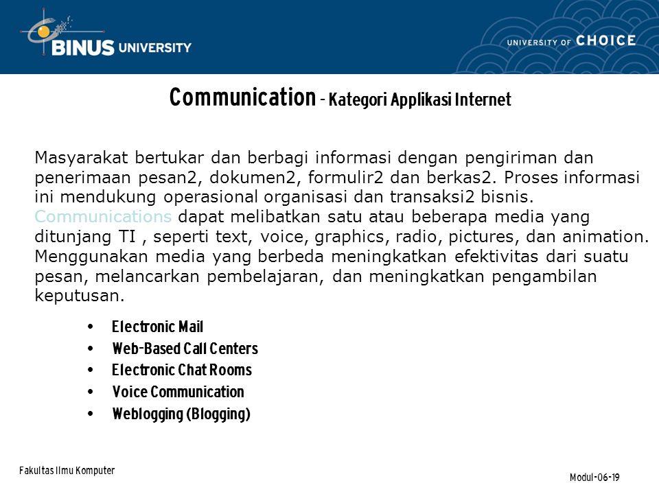 Communication - Kategori Applikasi Internet