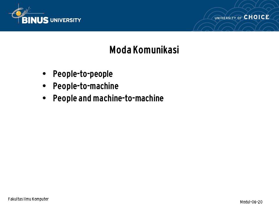 Moda Komunikasi People-to-people People-to-machine