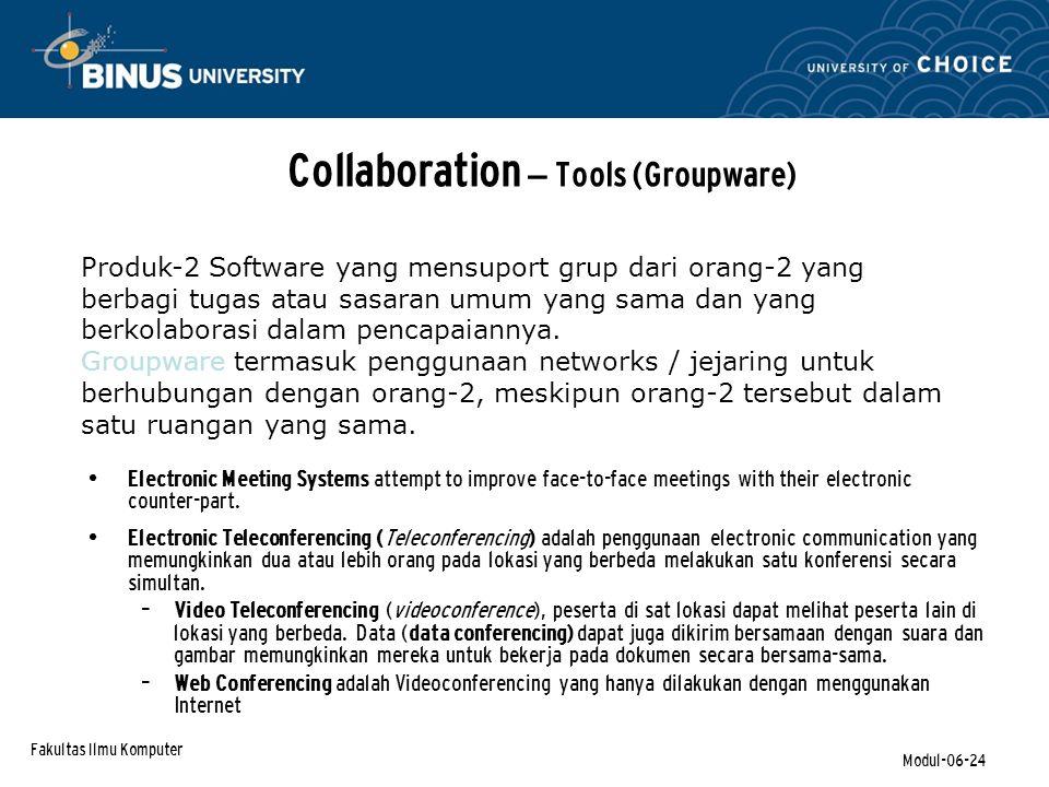 Collaboration – Tools (Groupware)