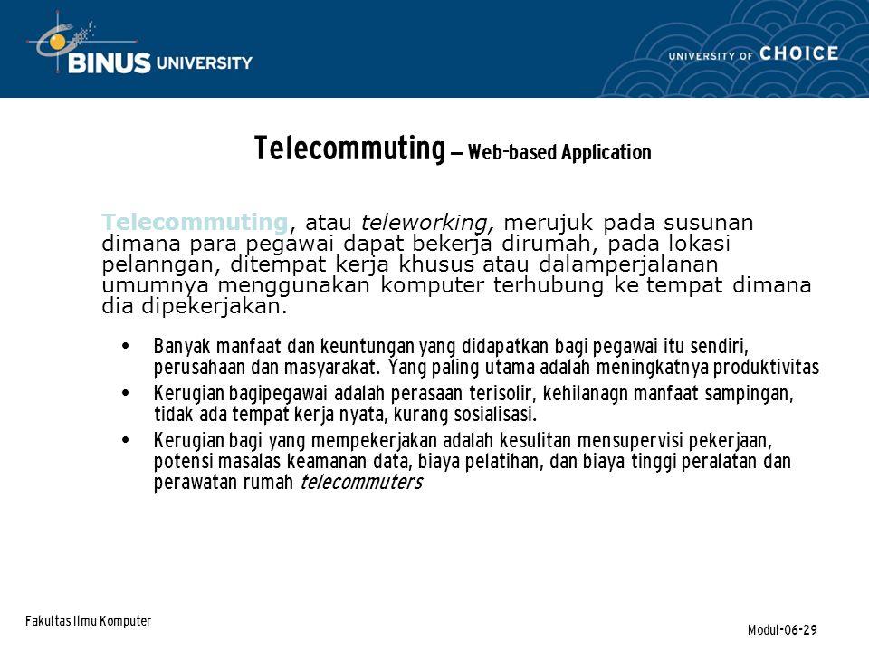 Telecommuting – Web-based Application
