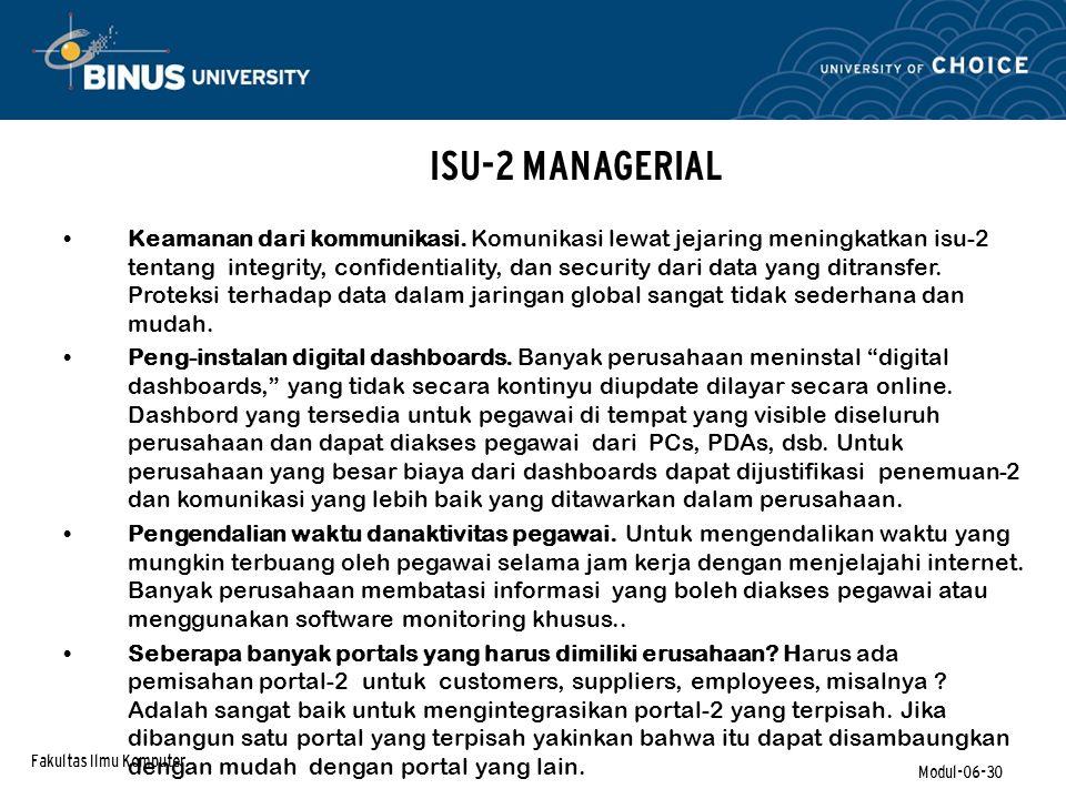 ISU-2 MANAGERIAL