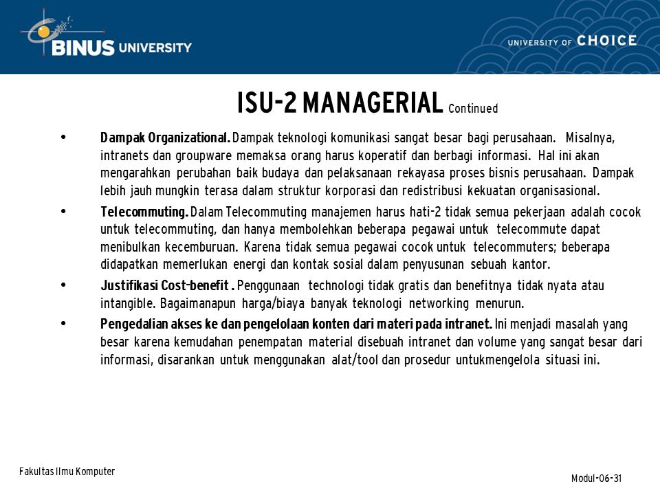 ISU-2 MANAGERIAL Continued
