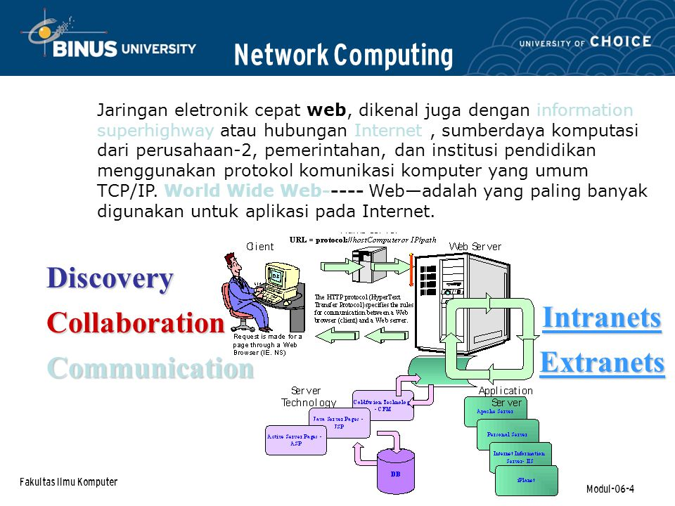 Network Computing Discovery Intranets Collaboration Extranets