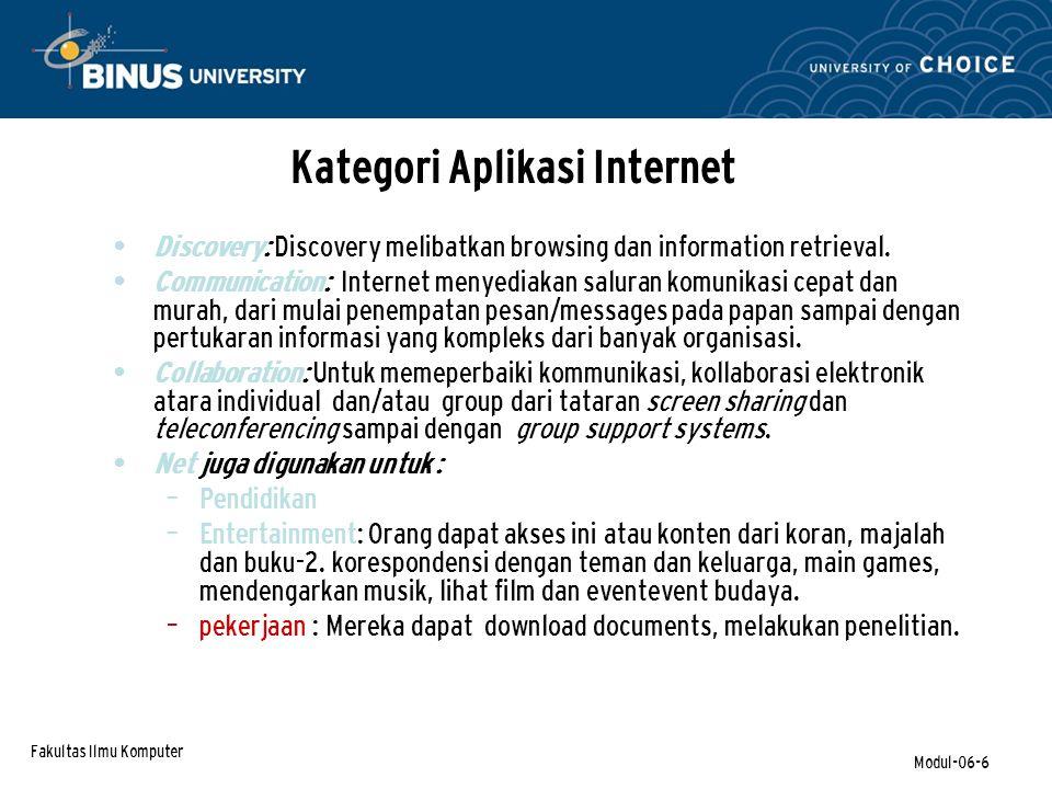 Kategori Aplikasi Internet