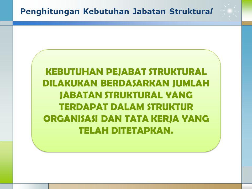 Penghitungan Kebutuhan Jabatan Struktural