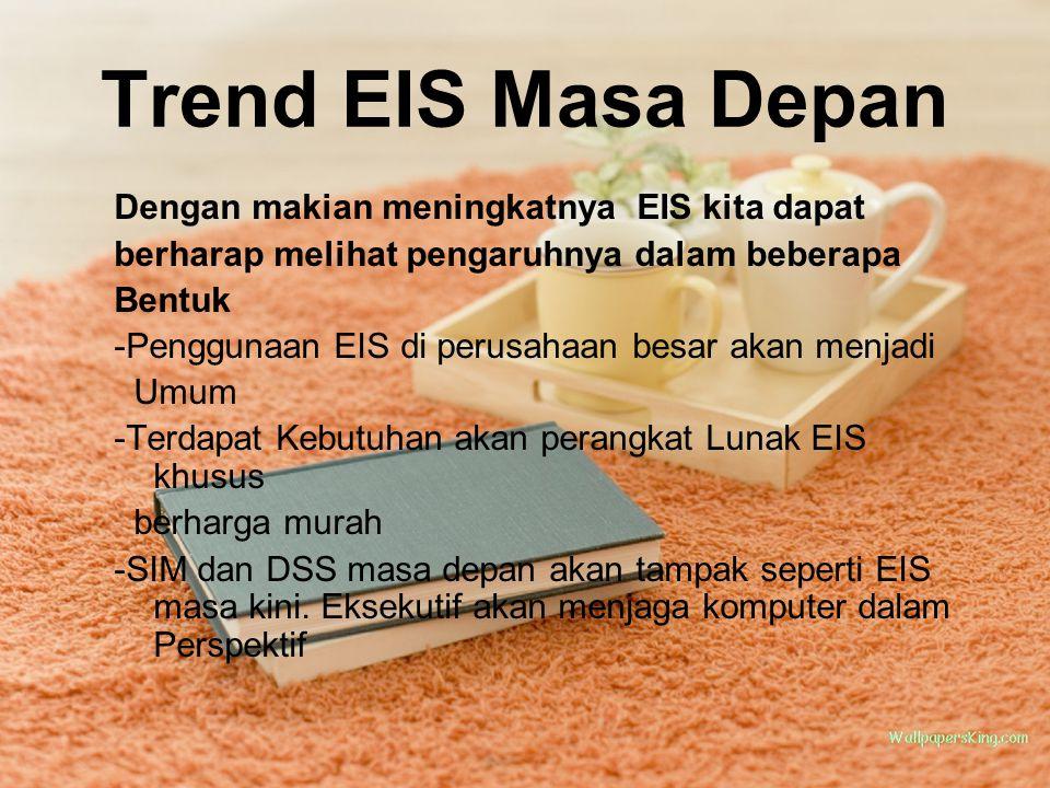 Trend EIS Masa Depan Dengan makian meningkatnya EIS kita dapat