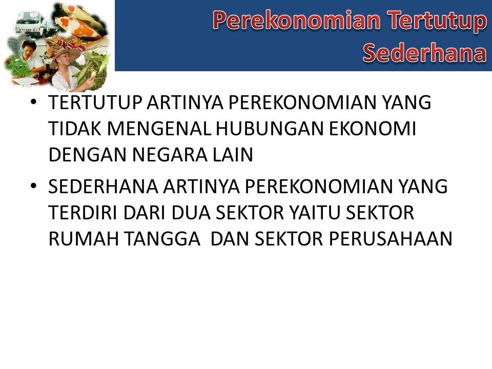 Perekonomian Tertutup Sederhana