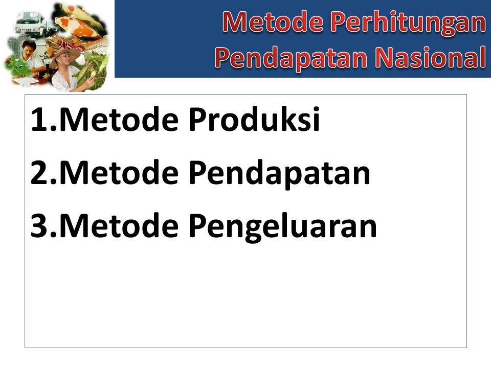Metode Produksi Metode Pendapatan Metode Pengeluaran