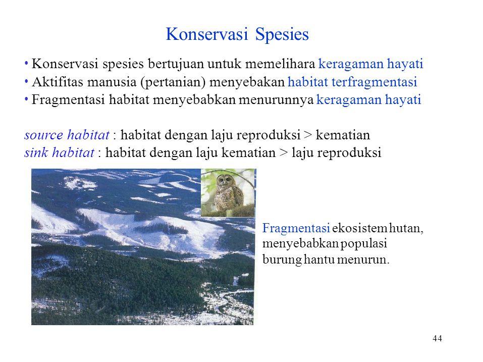 Konservasi Spesies • Konservasi spesies bertujuan untuk memelihara keragaman hayati.