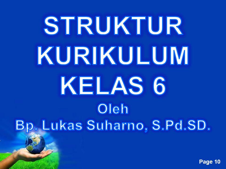 STRUKTUR KURIKULUM KELAS 6