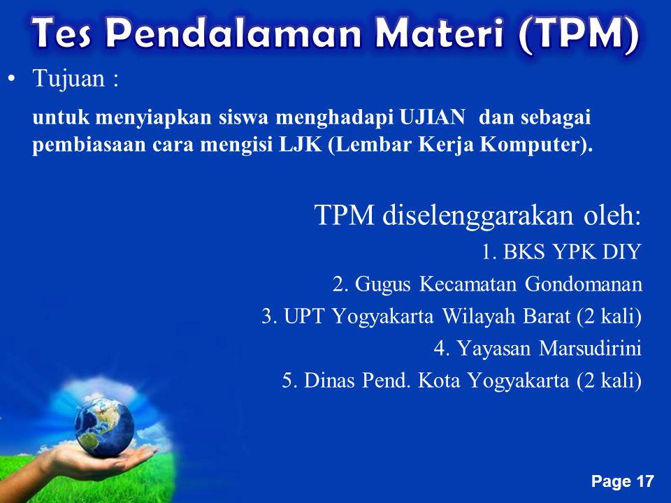 Tes Pendalaman Materi (TPM)