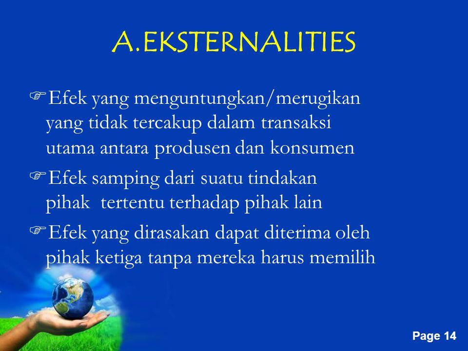 A.EKSTERNALITIES