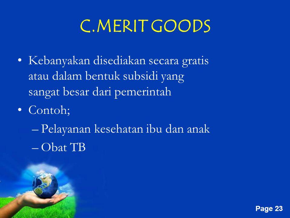 C.MERIT GOODS
