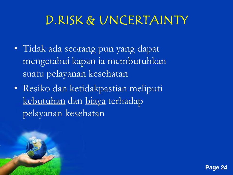 D.RISK & UNCERTAINTY