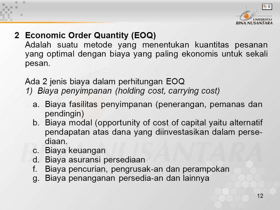 2 Economic Order Quantity (EOQ)