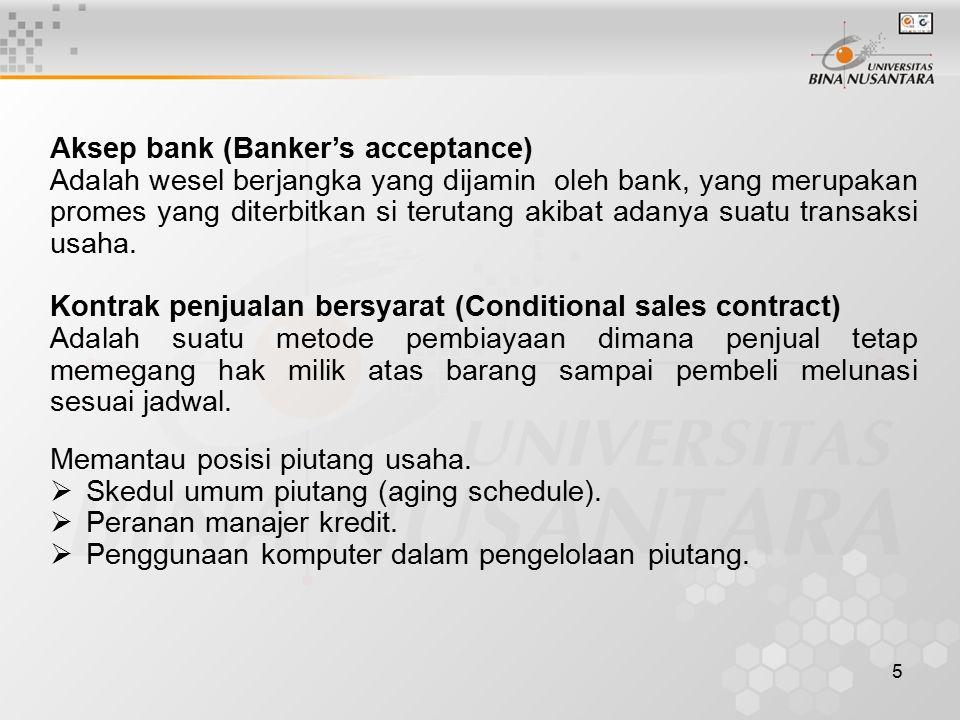 Aksep bank (Banker's acceptance)