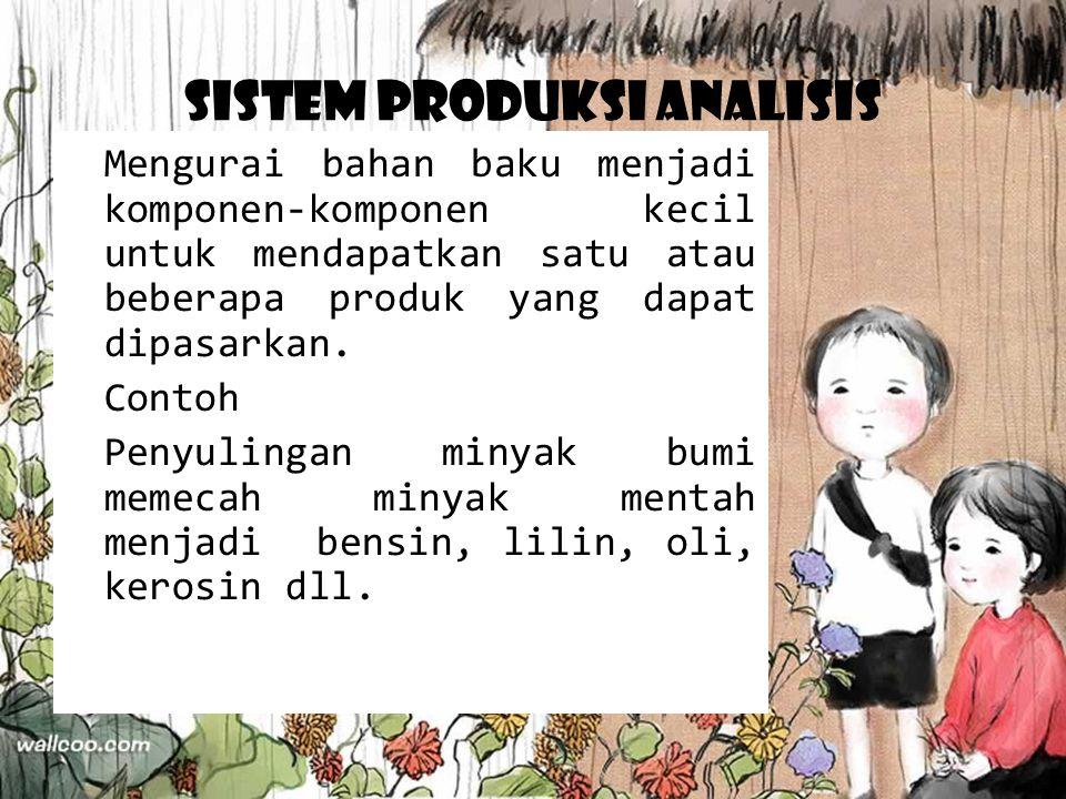 Sistem Produksi Analisis