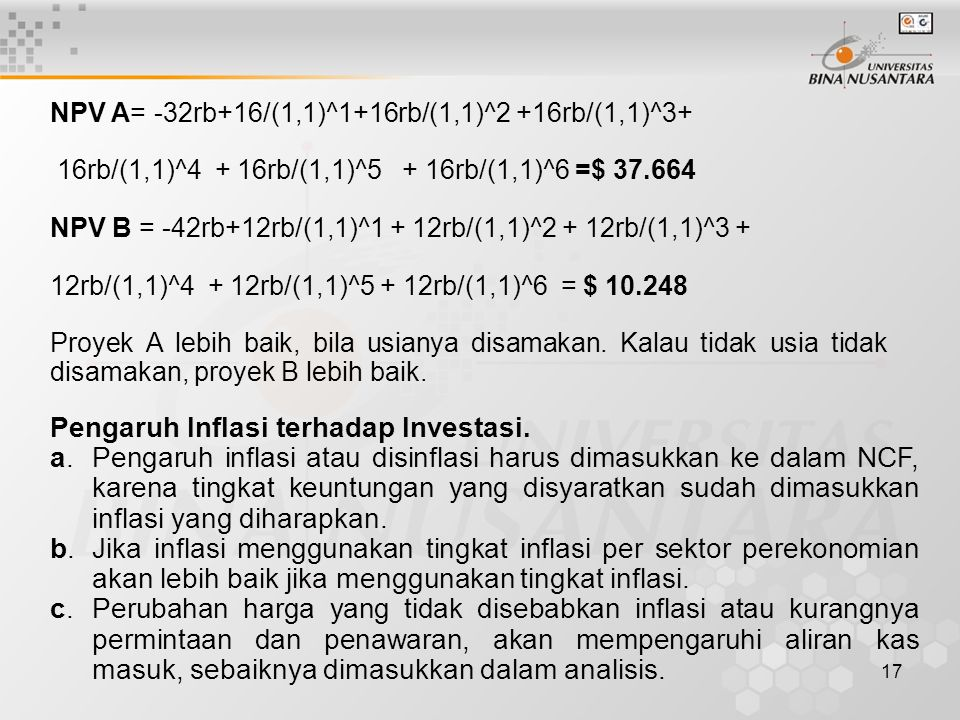 Pengaruh Inflasi terhadap Investasi.