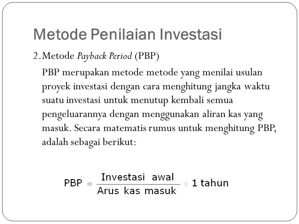 Metode Penilaian Investasi