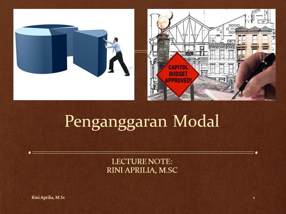 Lecture Note: Rini Aprilia, M.Sc