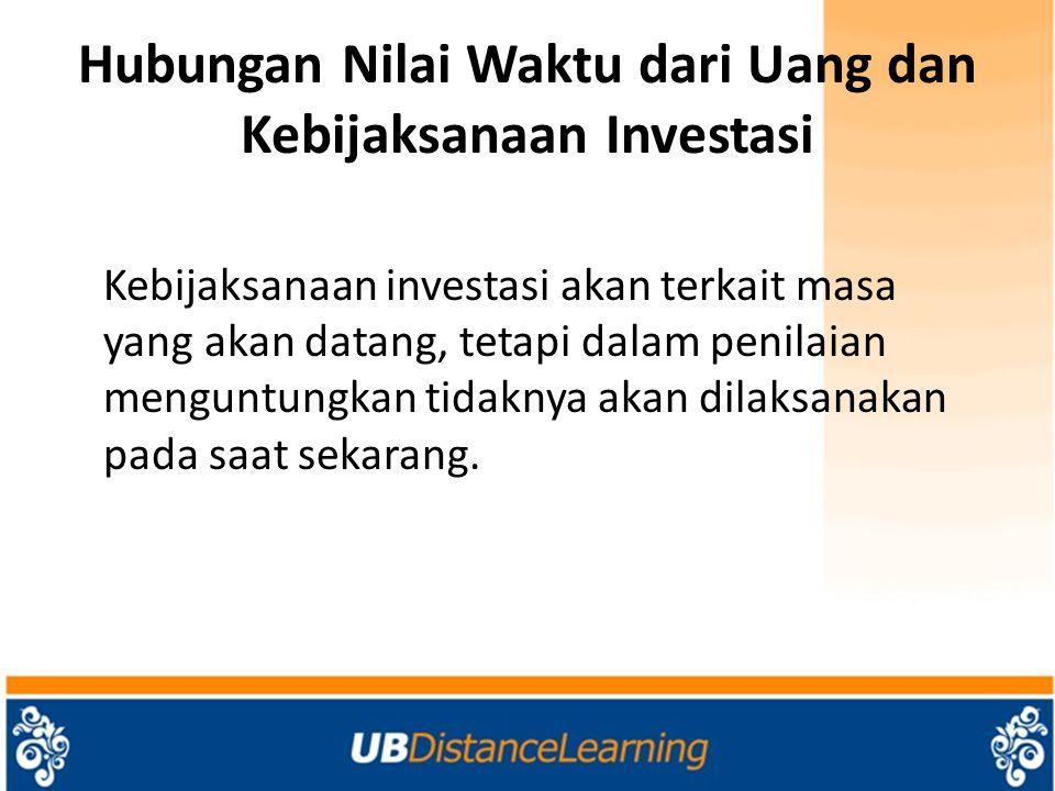 Hubungan Nilai Waktu dari Uang dan Kebijaksanaan Investasi