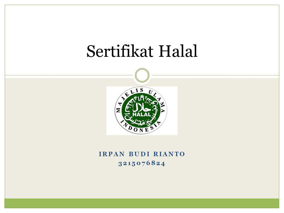 Sertifikat Halal Irpan Budi Rianto 3215076824
