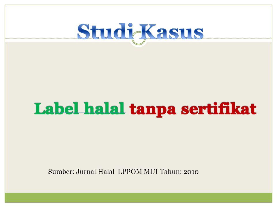 Label halal tanpa sertifikat