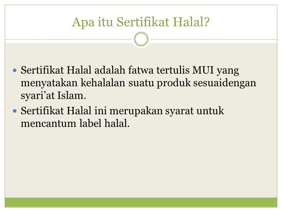 Apa itu Sertifikat Halal