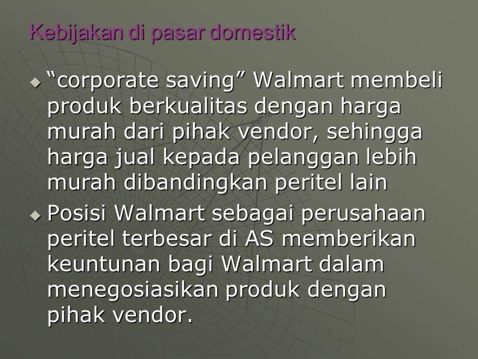 Kebijakan di pasar domestik