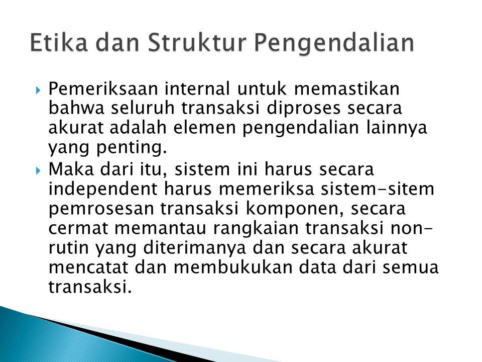 Etika dan Struktur Pengendalian