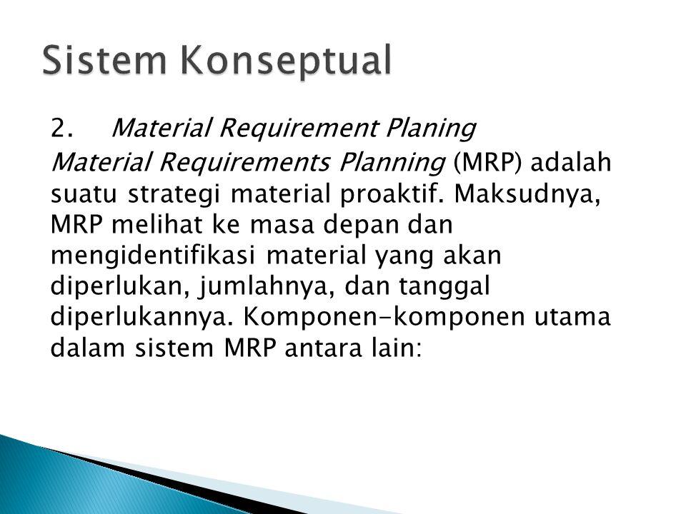 Sistem Konseptual 2. Material Requirement Planing