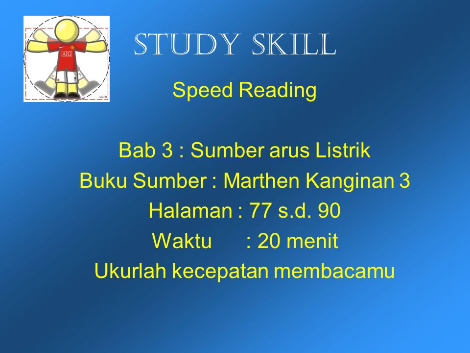 Study skill Speed Reading Bab 3 : Sumber arus Listrik