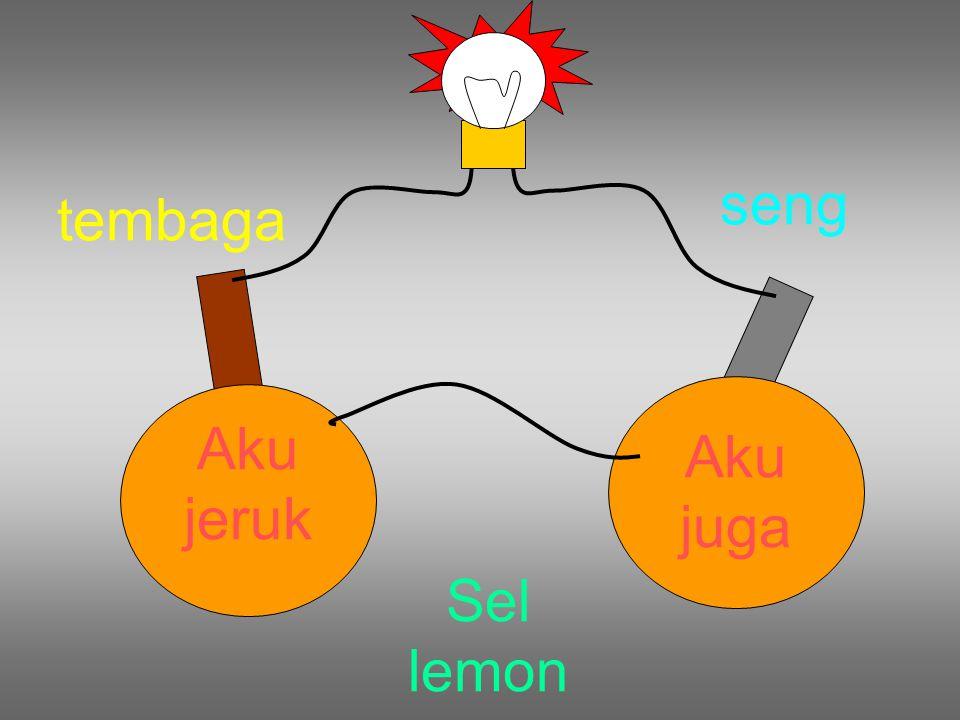 seng tembaga Aku jeruk Aku juga Sel lemon