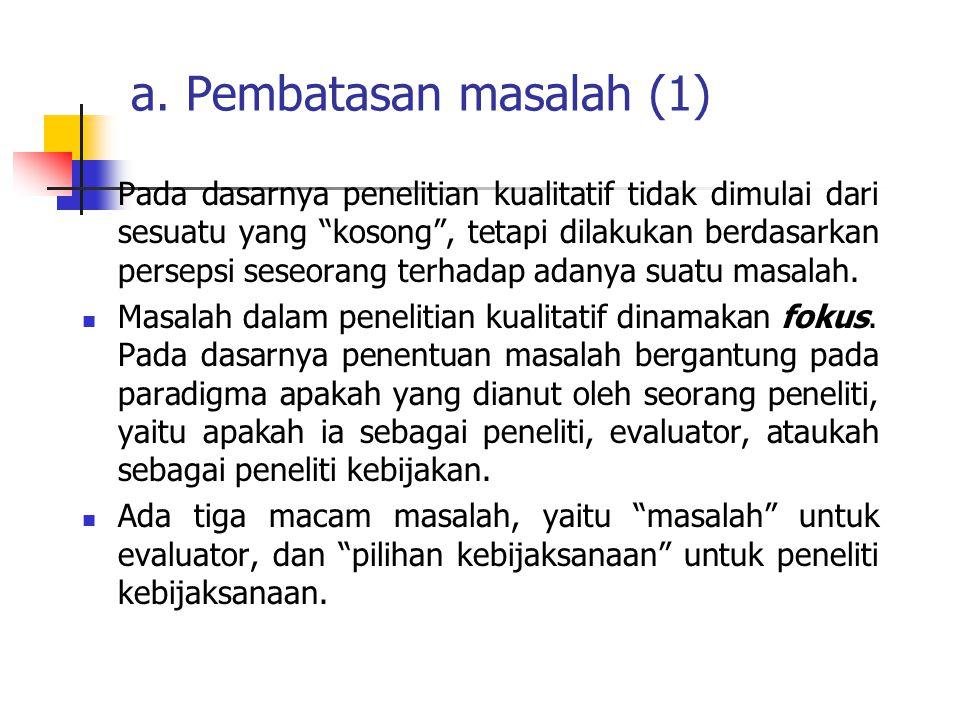 a. Pembatasan masalah (1)