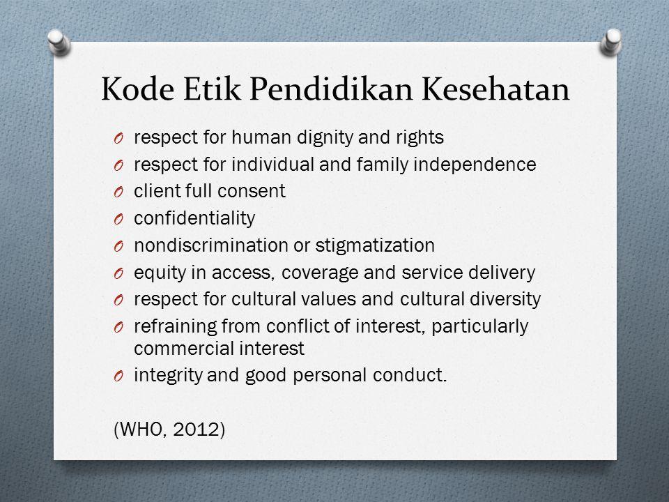 Kode Etik Pendidikan Kesehatan